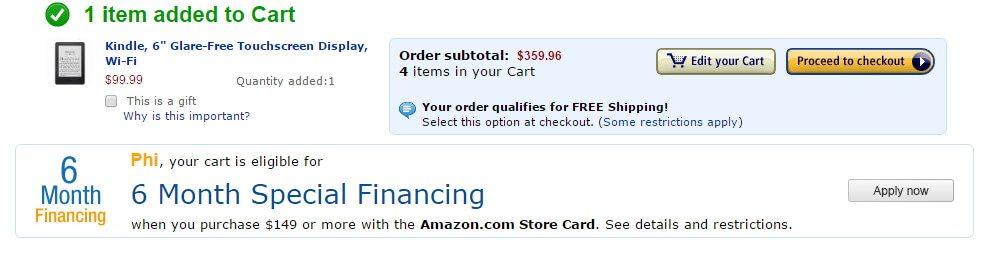 Đặt mua hàng trên Amazon