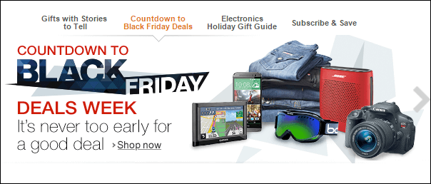 Amazon Black Friday Deals Week là địa chỉ đầu tiên nên xem