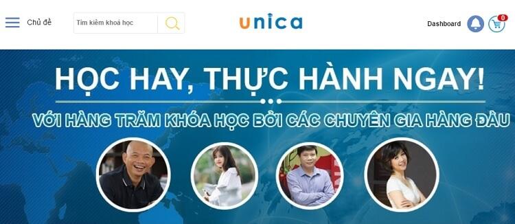 Nền tảng học trực tuyến Unica