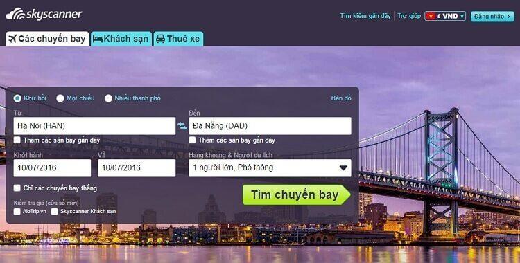Skyscanner là công cụ tìm vé giá rẻ hàng đầu thế giới