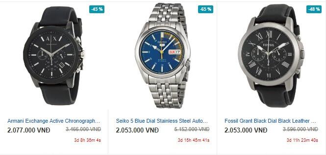 Đồng hồ trên Ebay luôn có giá rất rẻ