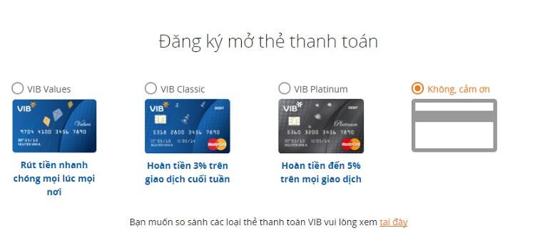 Các dòng thẻ thanh toán Quốc tế của VIB có chức năng hoàn tiền khi chi tiêu