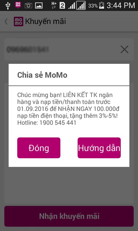 Momo khuyến mãi tặng 100.000đ