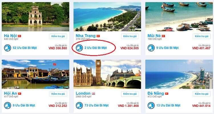 Khách sạn giảm giá ở Booking.com