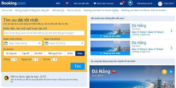 Booking.com hỗ trợ đầy đủ Tiếng Việt
