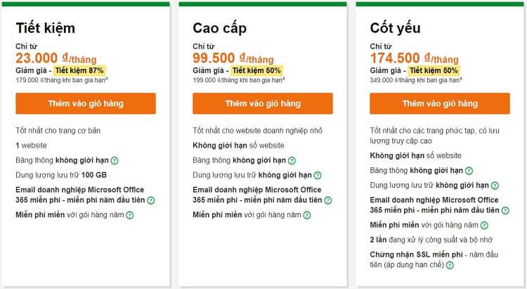 Gói hosting giá rẻ Godaddy chỉ 1 USD/tháng