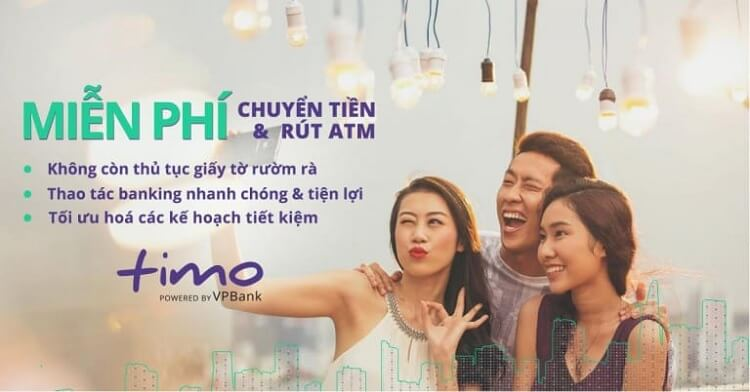 Miễn phí mở thẻ ATM Timo