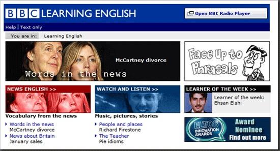 Học tiếng anh online miễn phí với BBC.co.uk