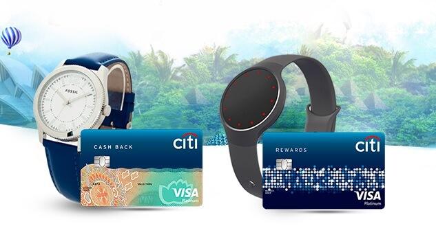 Mở thẻ Citibank tặng đồng hồ Fossil và vòng đeo tay thông minh Misfit