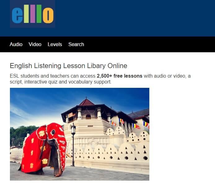 Hãy học nghe với Elllo English