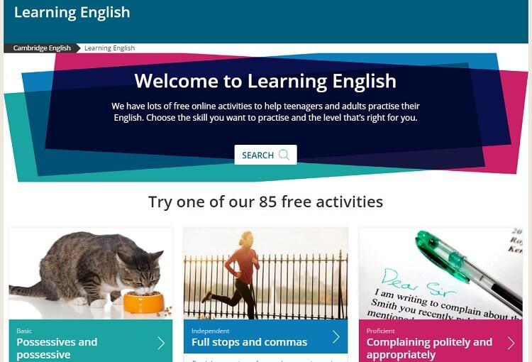 Học miễn phí tiếng anh trực tuyến với Cambridge English