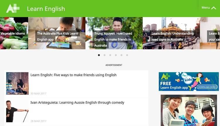 AustraliaPlus có các bài học Video sinh động, hấp dẫn