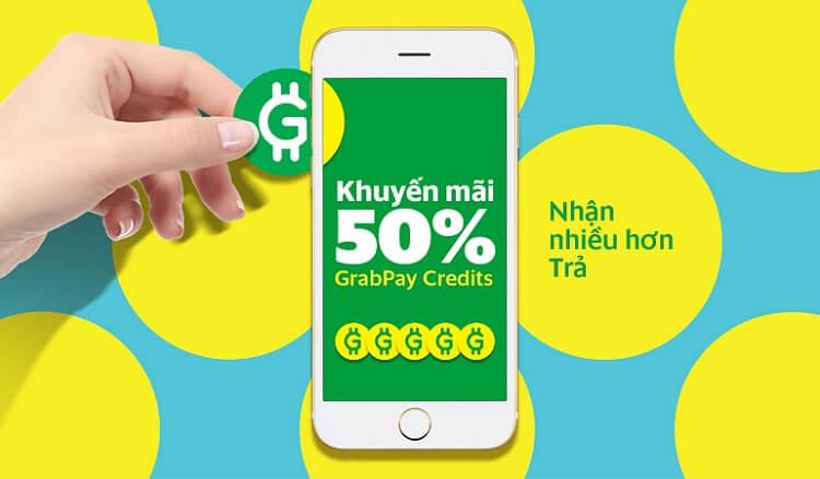 Grab tặng 50% vào tài khoản GrabPay