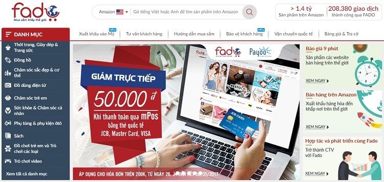 Fado là dịch vụ mua giúp hàng Mỹ (Amazon)