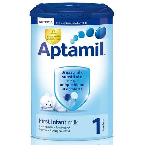 Sữa Aptamil có nhược điểm dùng hộp giấy dễ hút ẩm