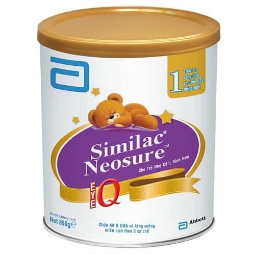 Sữa Similac Neosure IQ1 cho trẻ từ 0-12 tháng