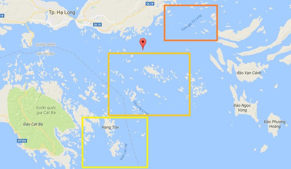 Kinh nghiệm du lịch Hạ Long: Diện tích khoảng 1.553km2 với 1.969 hòn đảo lớn nhỏ