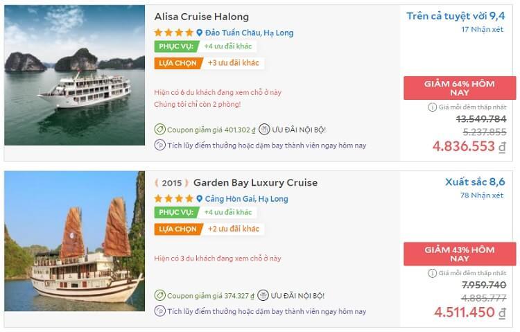 Vịnh Hạ Long có khoảng trên dưới 100 du thuyền đang khai thác du lịch