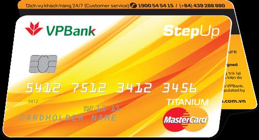 Thẻ tín dụng StepUp hoàn tiền VPBank