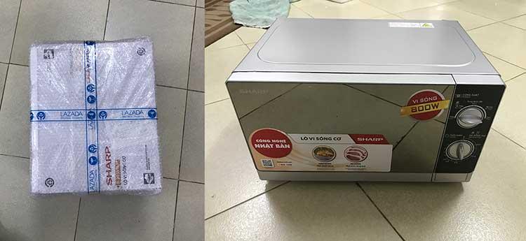 Lò vi sóng giá rẻ mua ở Lazada