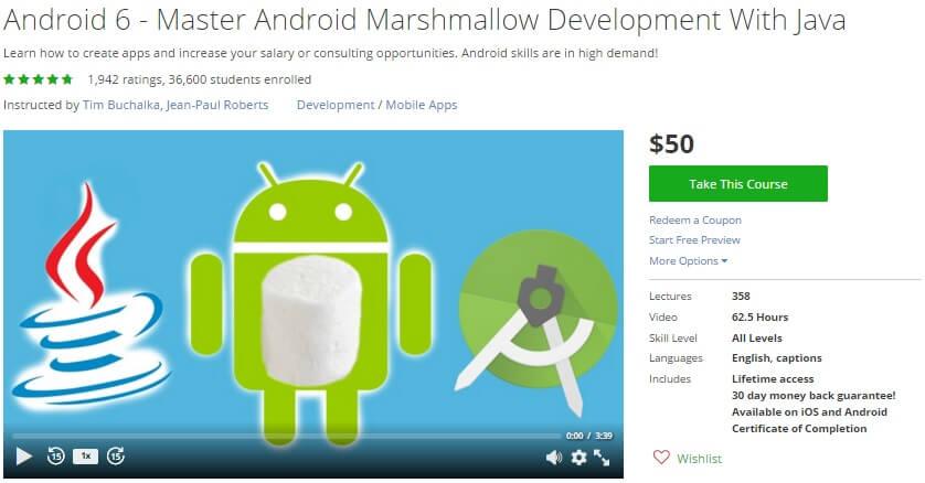 Khóa học Android này đã có hơn 30.000 học viên
