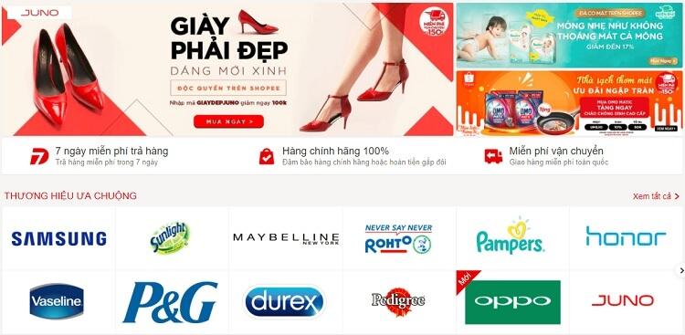 Shopee có rất nhiều khuyến mãi, giảm giá