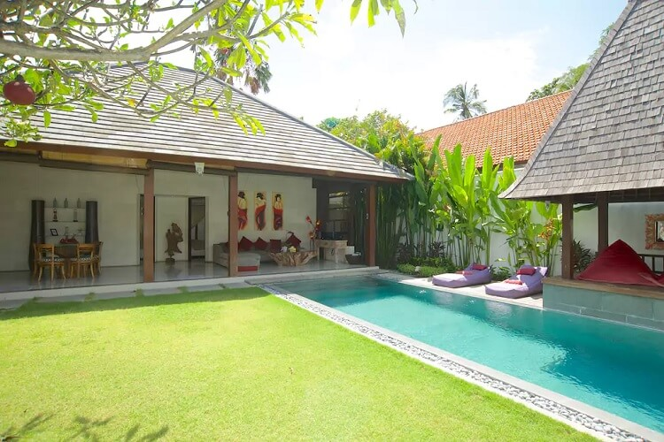 Các Villa có bể bơi riêng rất phổ biến ở Bali