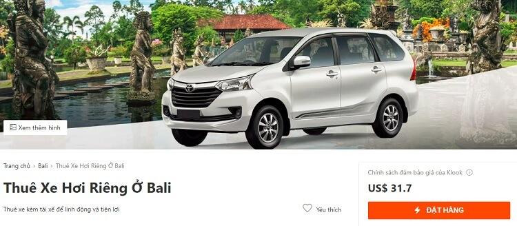 Nên thuê xe theo ngày khi đi du lịch Bali