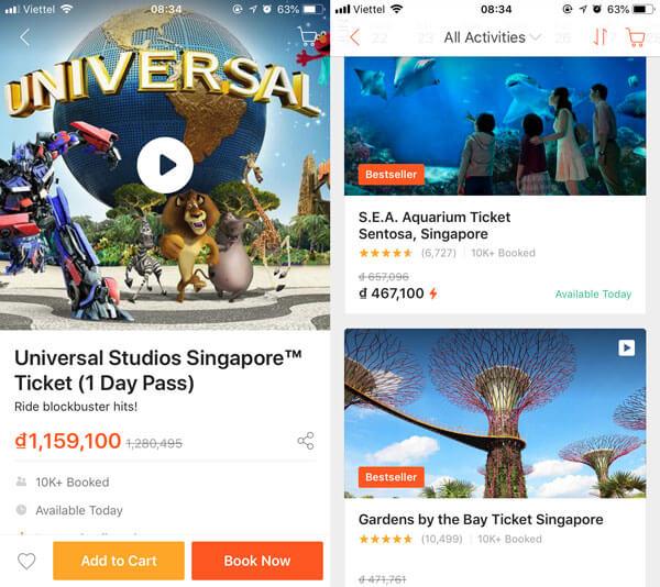 Mua vé Universal Singapore giá rẻ Online tại Klook
