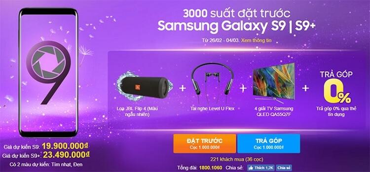 Quà tặng khủng khi mua điện thoại Samsung