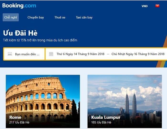Booking.com khuyến mãi, giảm giá