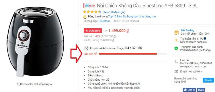 Kinh nghiệm mua hàng ở Tiki nhận biết sản phẩm đang sale