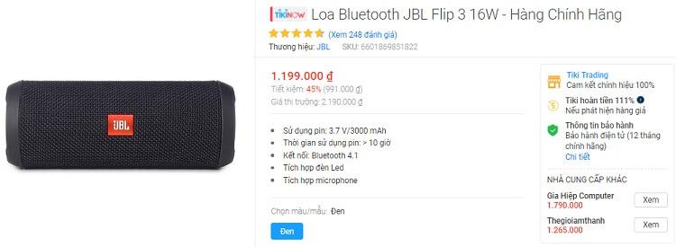 Loa Bluetooth này là sản phẩm không sale