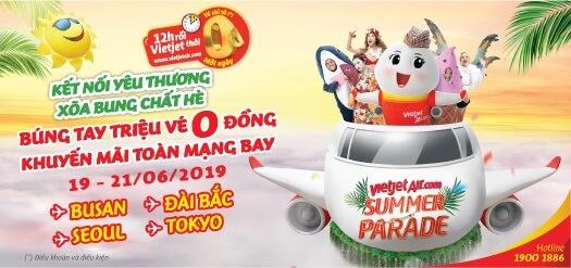 Khuyến mãi vé máy bay 0đ từ Vietjetair