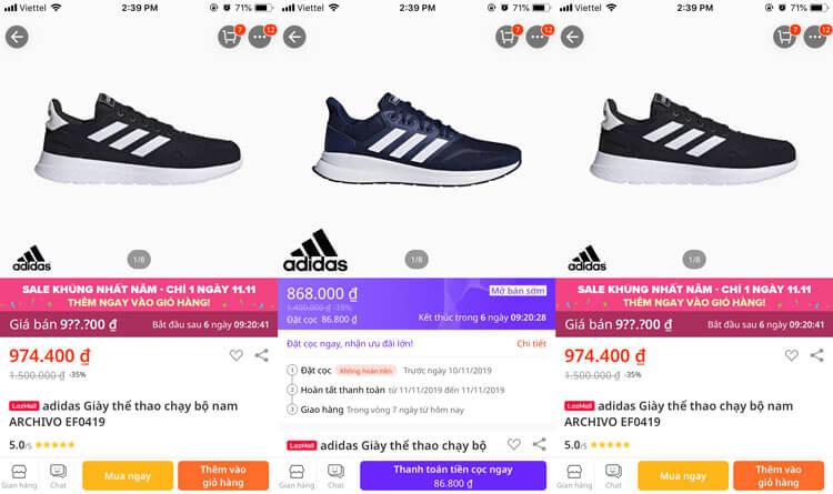Mua giày Adidas chính hãng ở đâu có giá rẻ