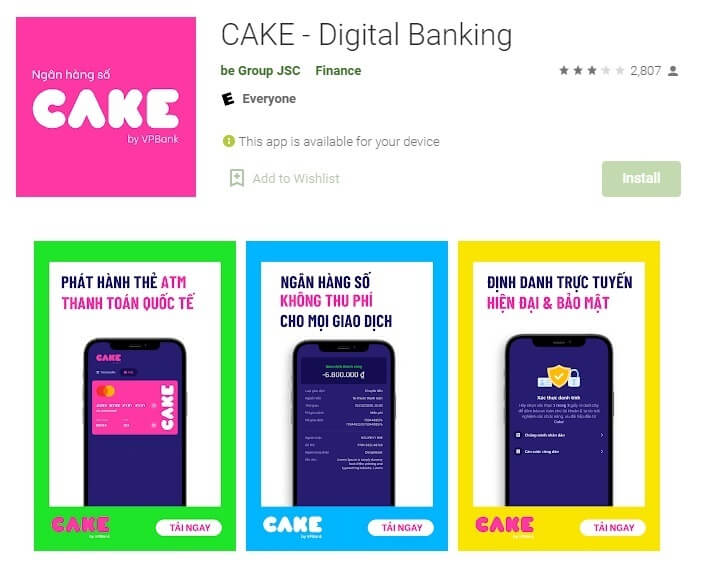 Tải App CAKE by VPBank
